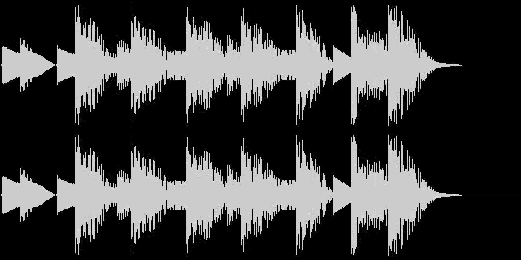 8bitジングル#6クリア&ゴールの未再生の波形