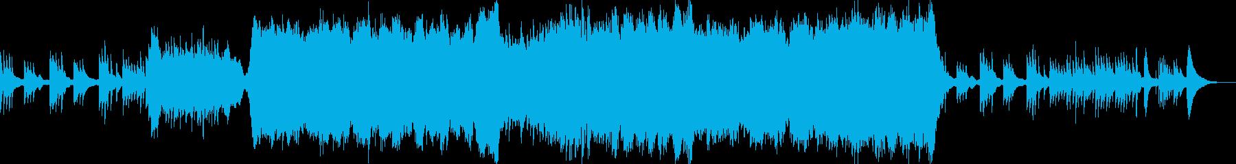悲しいピアノとストリングスの再生済みの波形