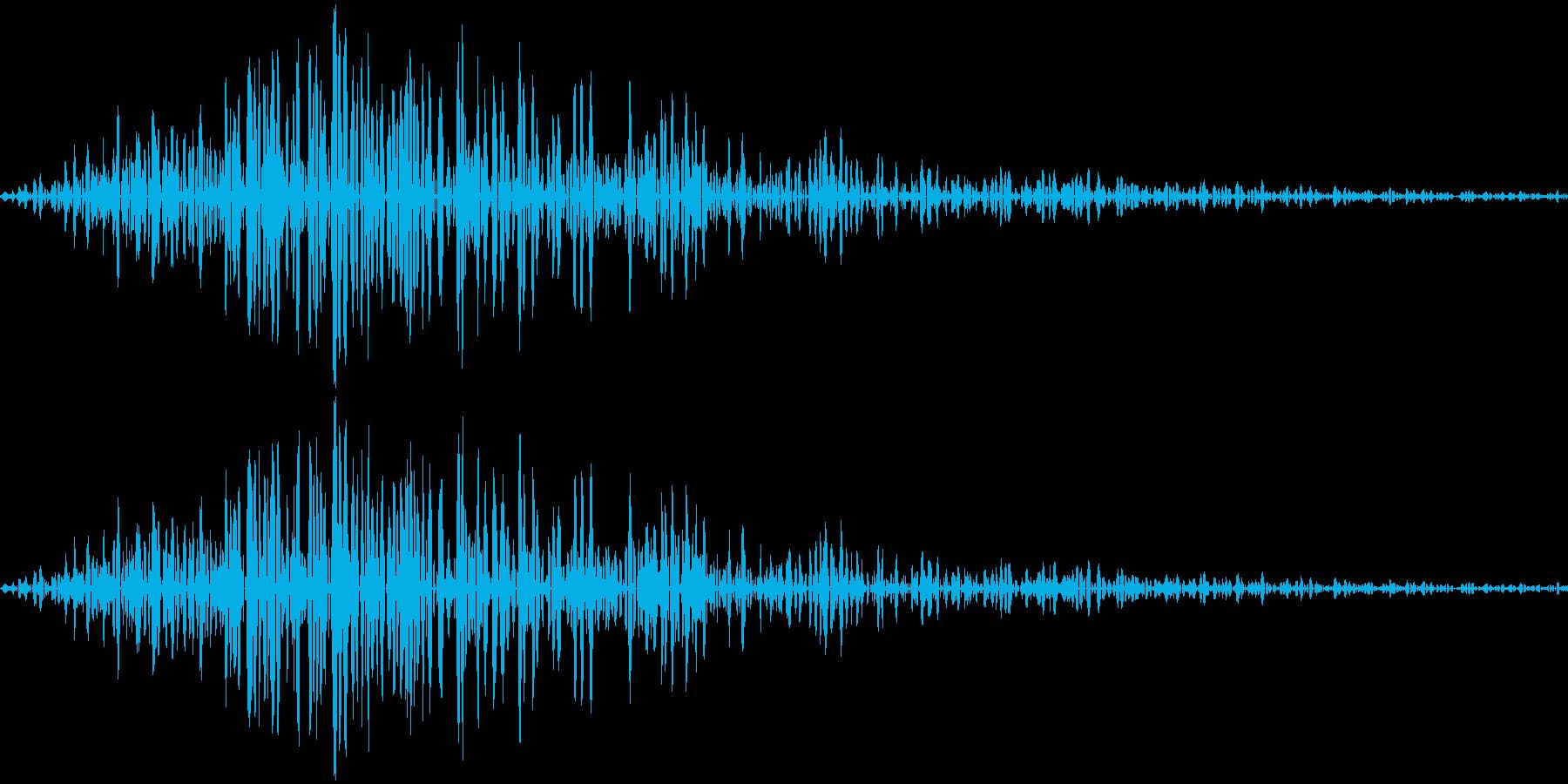 クリック、ボタン音(ピャッ)の再生済みの波形
