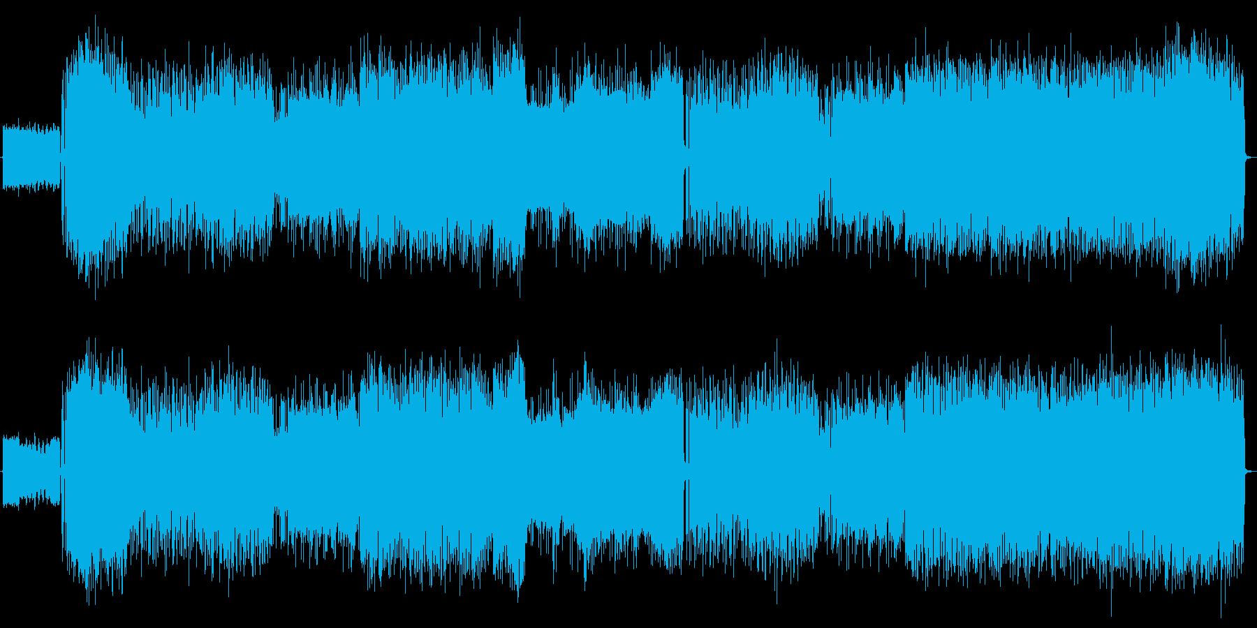女声ボーカルのパワフルなロックの再生済みの波形