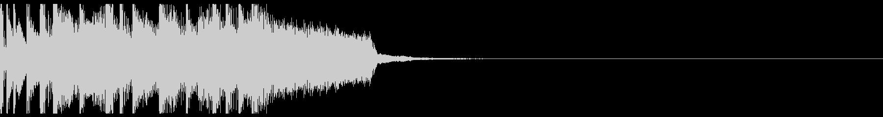 エレキギターを使用した爽やかなジングルの未再生の波形