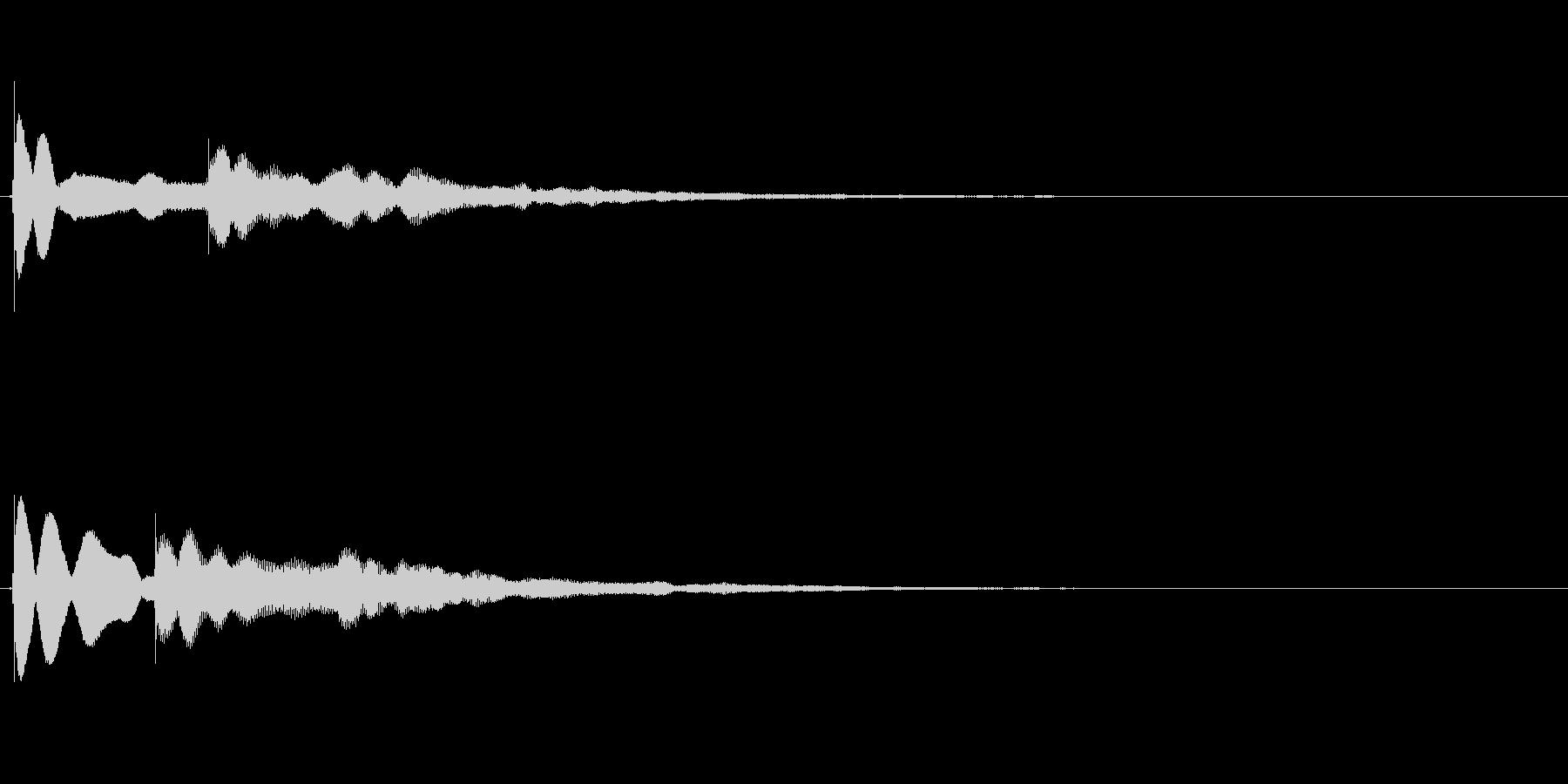 【チーン01-3】の未再生の波形
