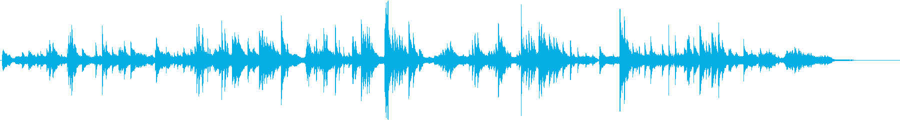 森の時間を表すヒーリングの再生済みの波形