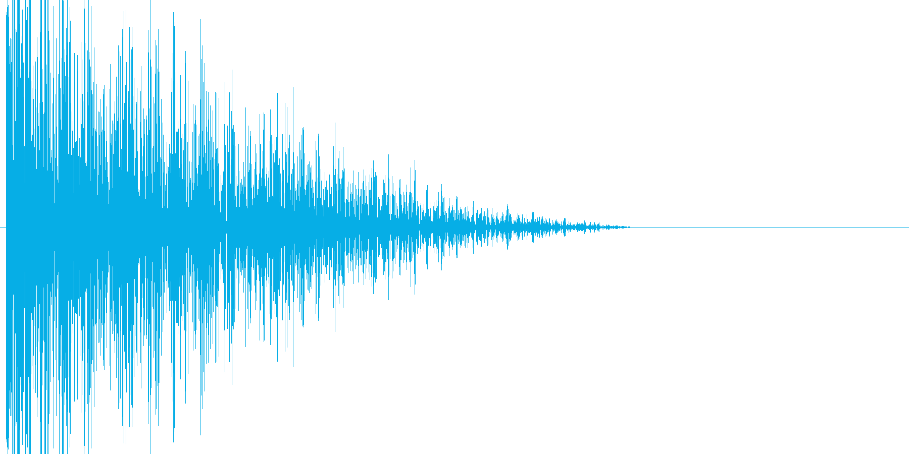 ボタン・カーソル・操作音 「カッ」の再生済みの波形