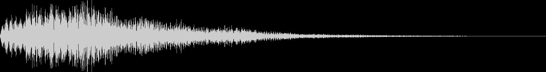 ホワワーン(決定 報知 獲得)の未再生の波形