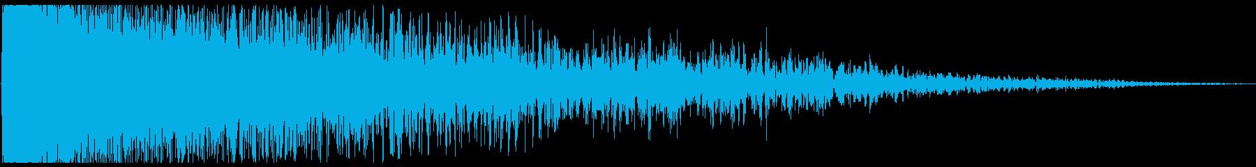 シューン(爆弾落下)の再生済みの波形