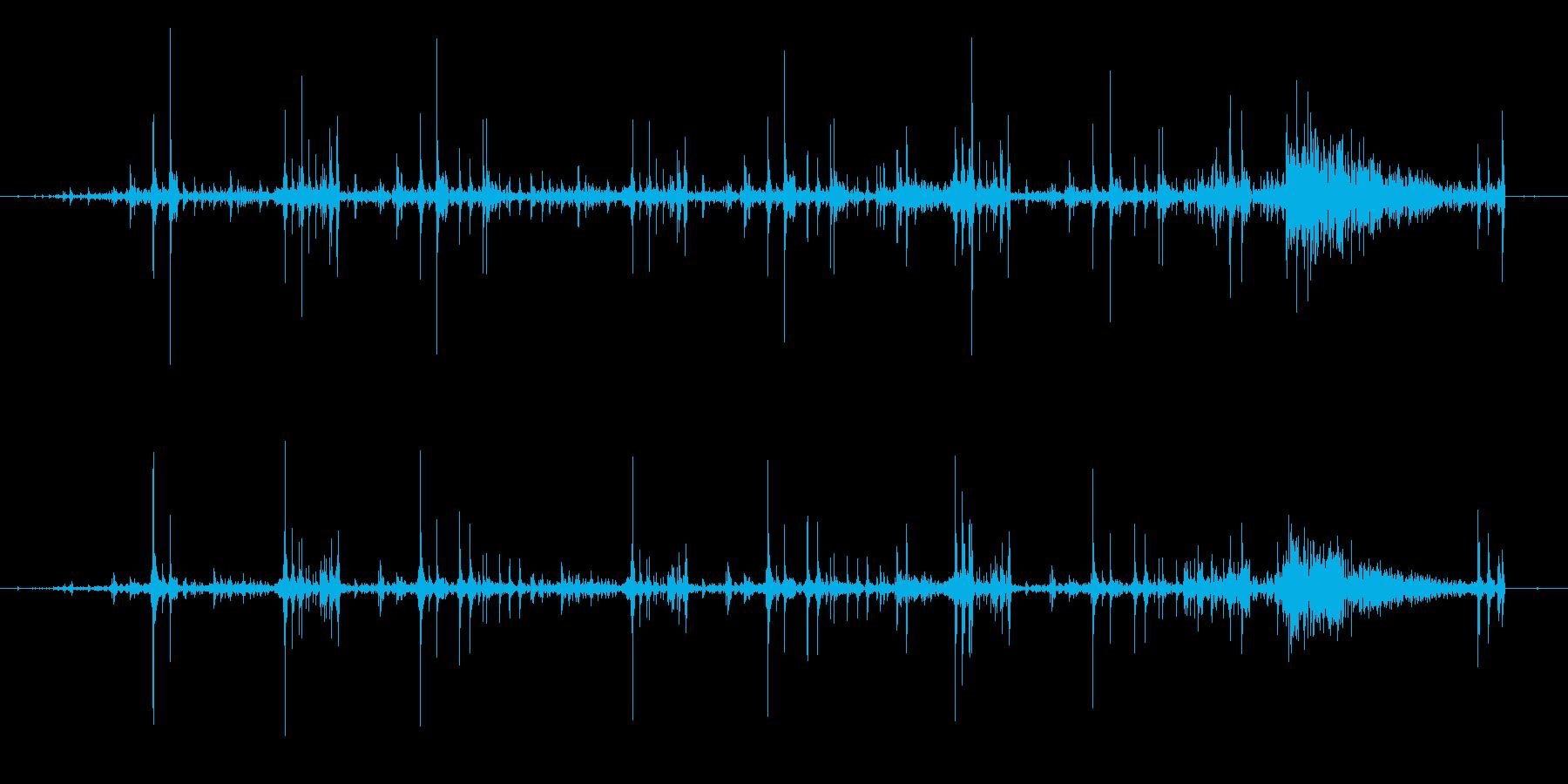 コンピューターのテレメトリ機能ボタ...の再生済みの波形