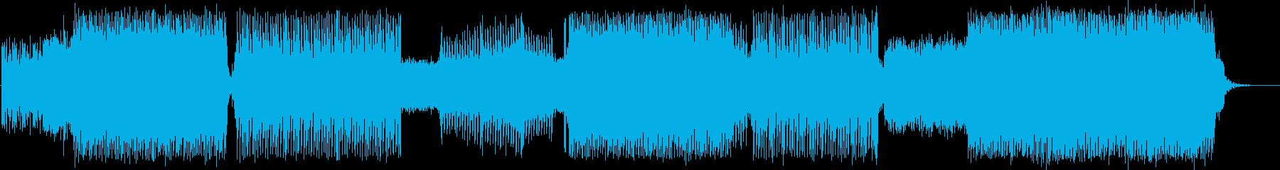 元気が出て行動的な躍動感のあるポップスの再生済みの波形