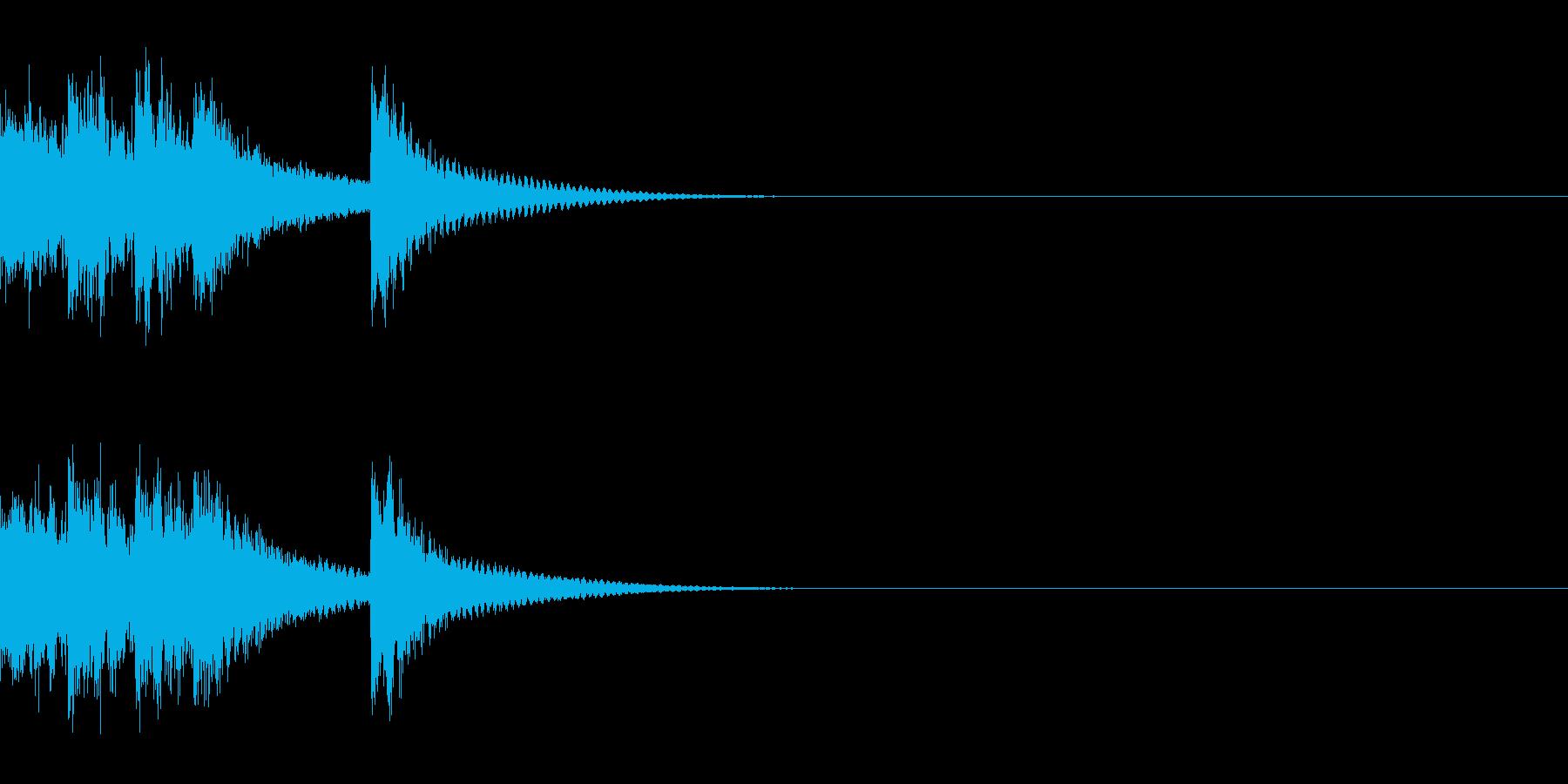 ベル アナウンス 時報 案内 お知らせDの再生済みの波形