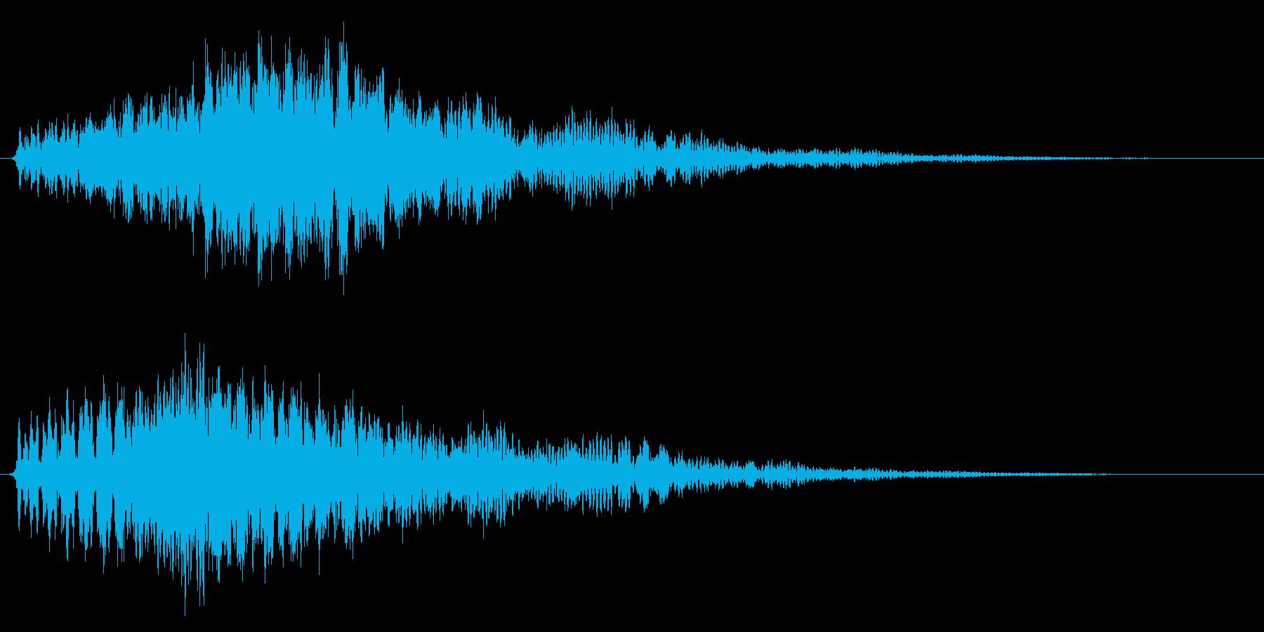 魔法/ワープ/ファンタジー系の再生済みの波形