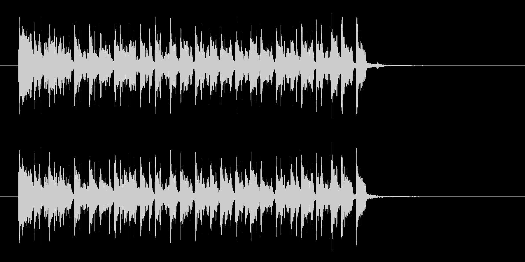 リズミカルで軽快な木琴ジングルの未再生の波形
