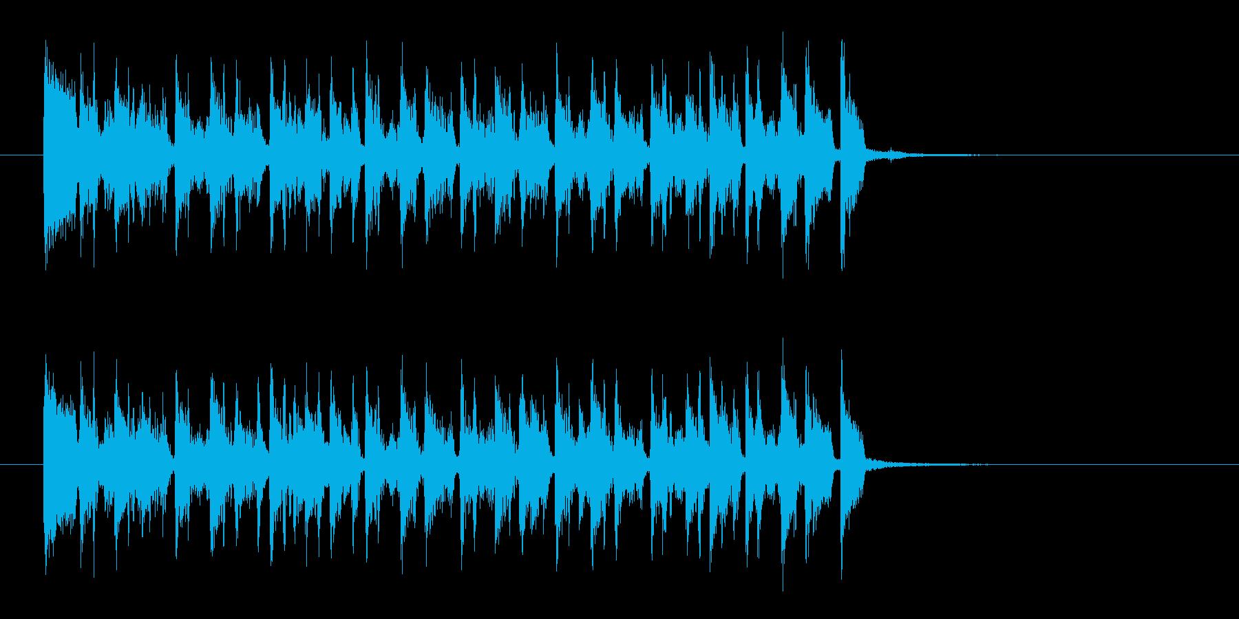 リズミカルで軽快な木琴ジングルの再生済みの波形
