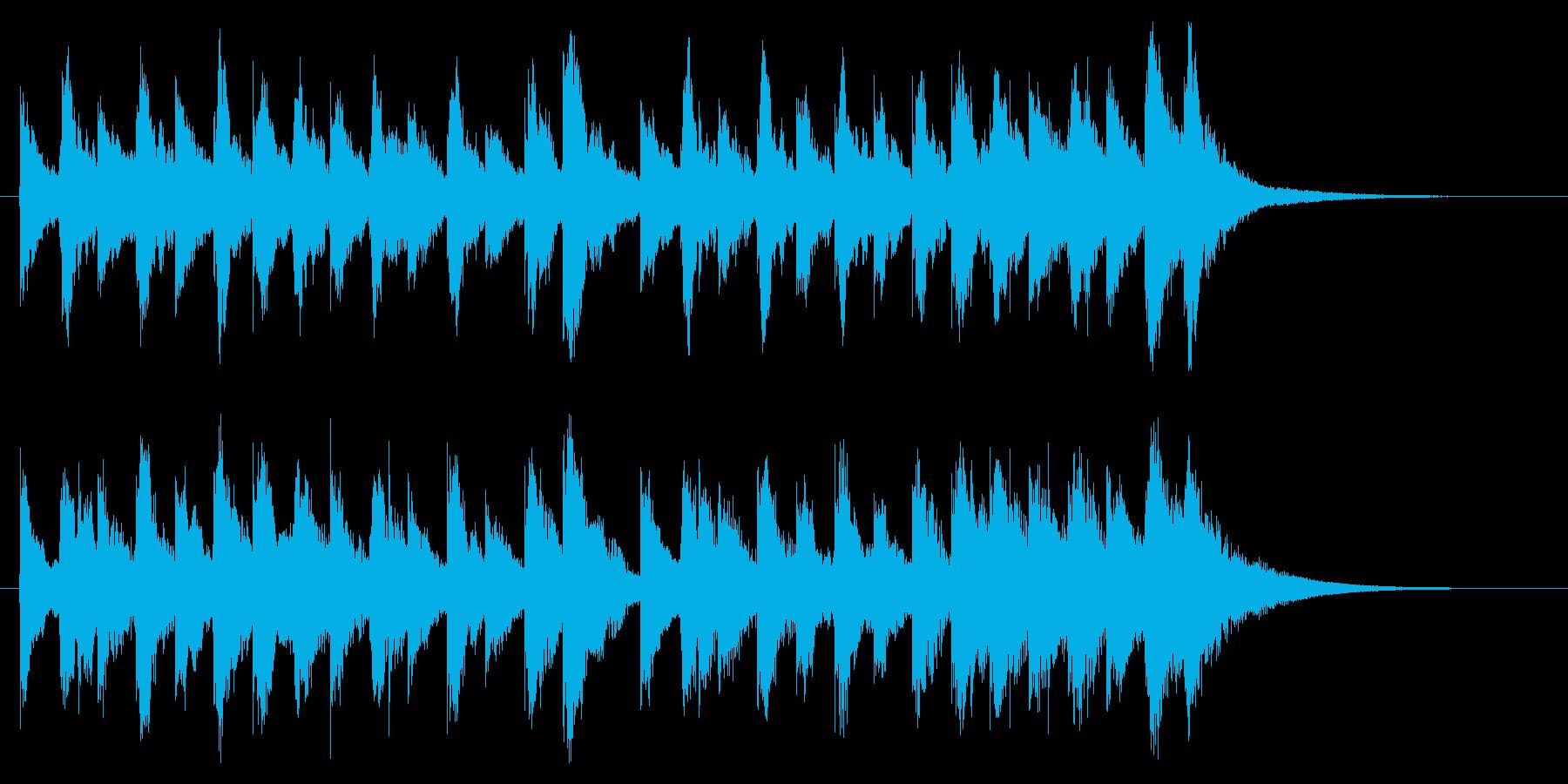 楽しい、ほのぼの、軽快なオーケストラロゴの再生済みの波形