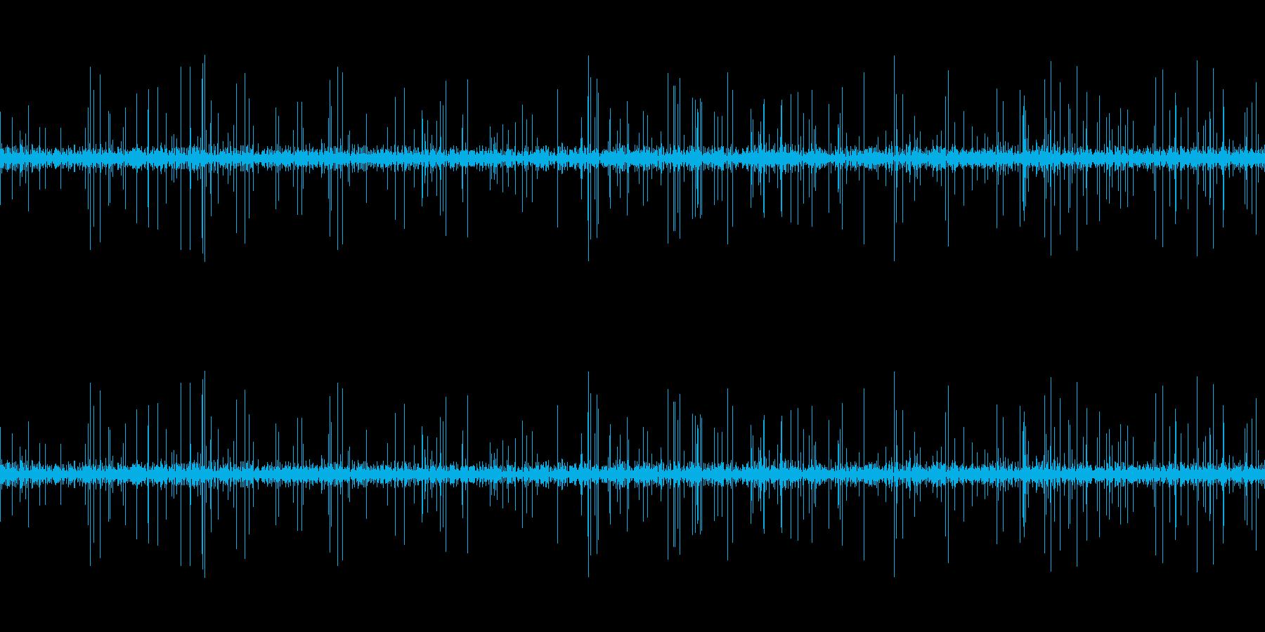 ループ再生可能!3分間のレコードノイズの再生済みの波形
