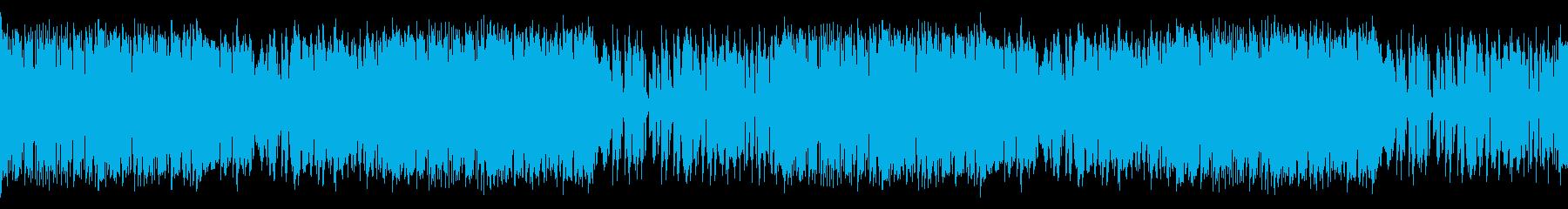 サバンナを感じさせる民族音楽風楽曲ループの再生済みの波形