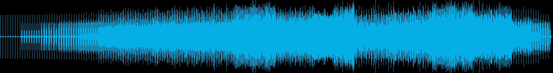 徐々に激しくなっていくゲームサウンドの再生済みの波形