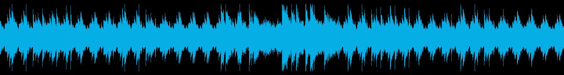 ピアノとバイオリンの悲しいBGM・ループの再生済みの波形