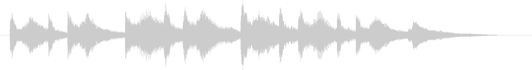 結婚式効果音_ジューンブライド02の未再生の波形