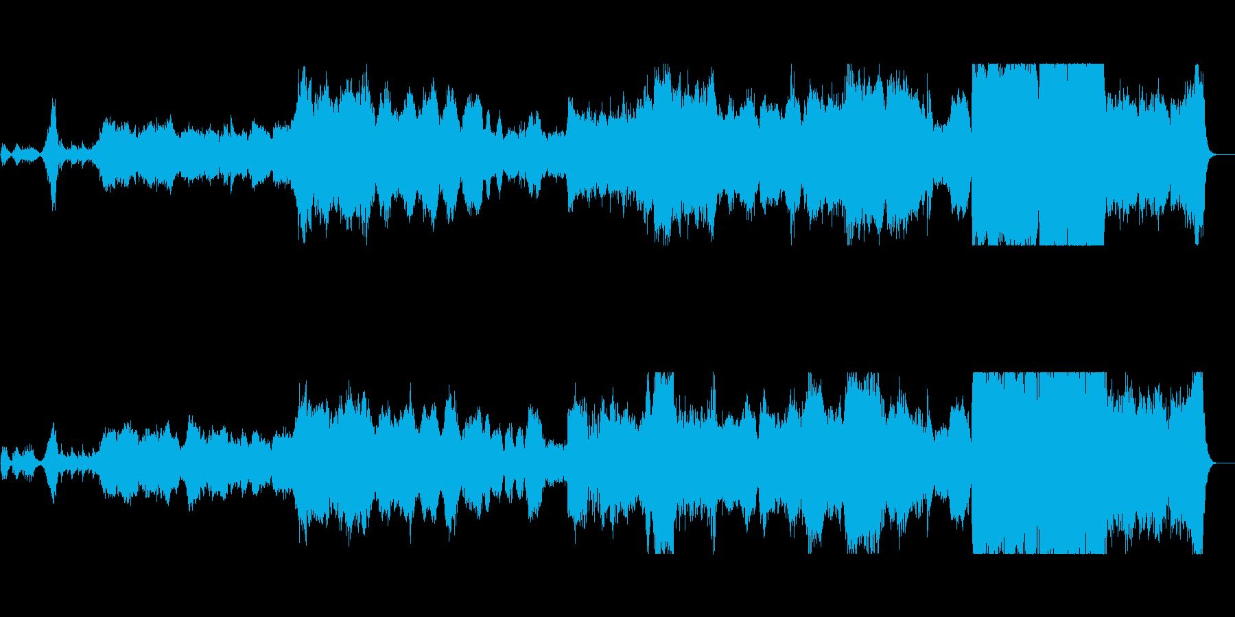 悲しくも力強いファンタジー系オーケストラの再生済みの波形