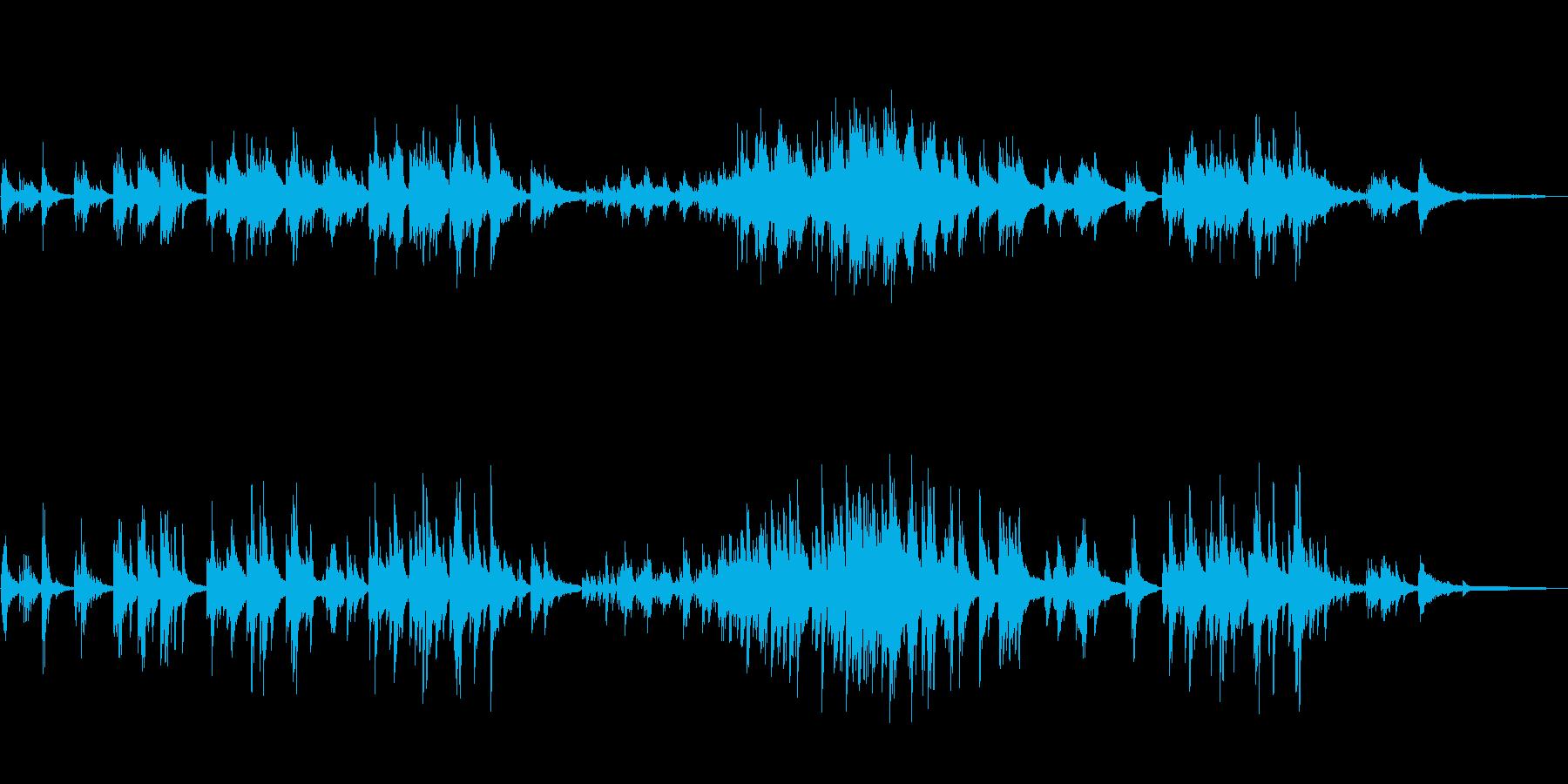 ピアノソロ爽やか幸せ癒し系の曲の再生済みの波形