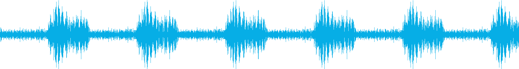 境界違反警告信号の再生済みの波形
