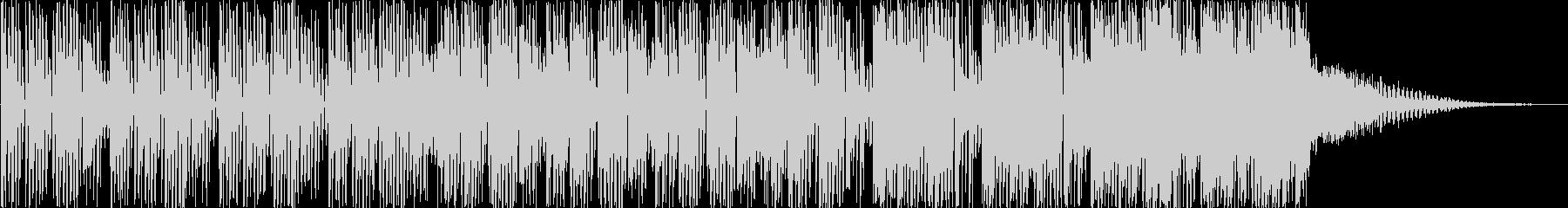コミカル、愉快なBGMの未再生の波形