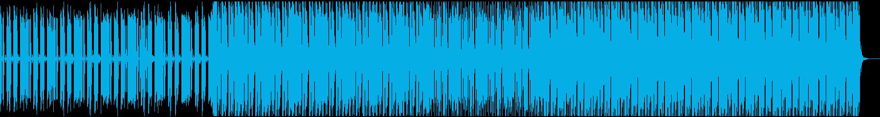 アンダーグラウンドな怪しさを持ったテクノの再生済みの波形