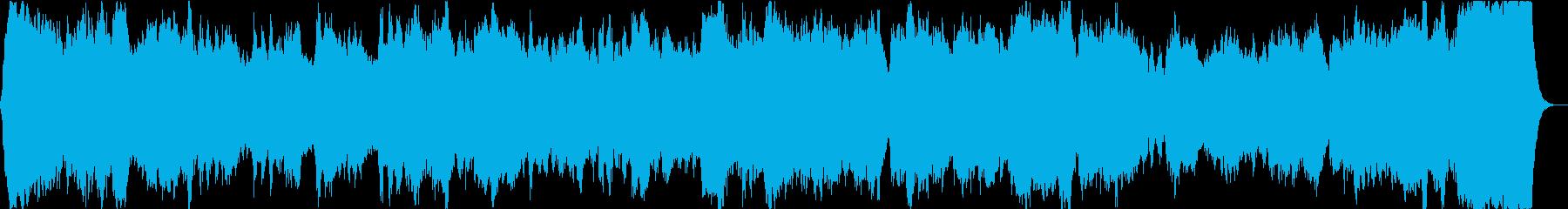 バロックなパイプオルガン曲の再生済みの波形