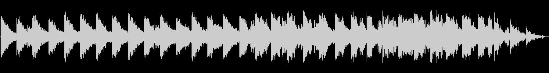 アクアリウムのようなシンセサイザーBGMの未再生の波形