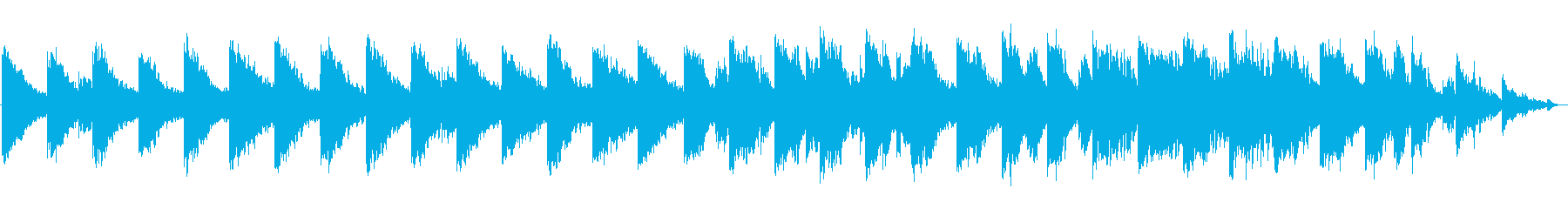 アクアリウムのようなシンセサイザーBGMの再生済みの波形