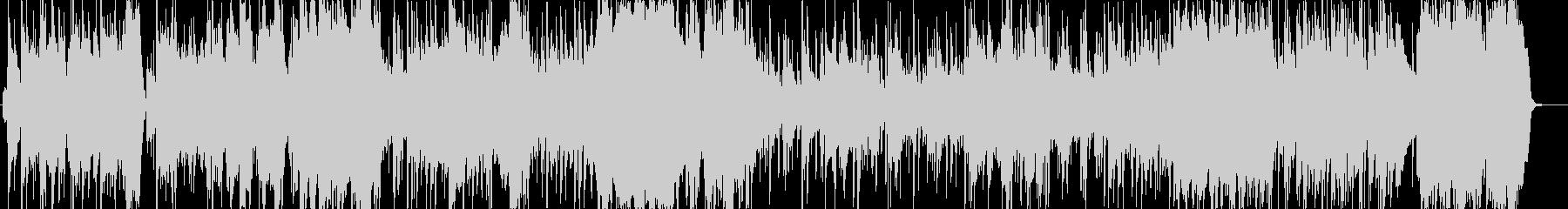 重厚なオーケストラでラテン風のリズムの未再生の波形