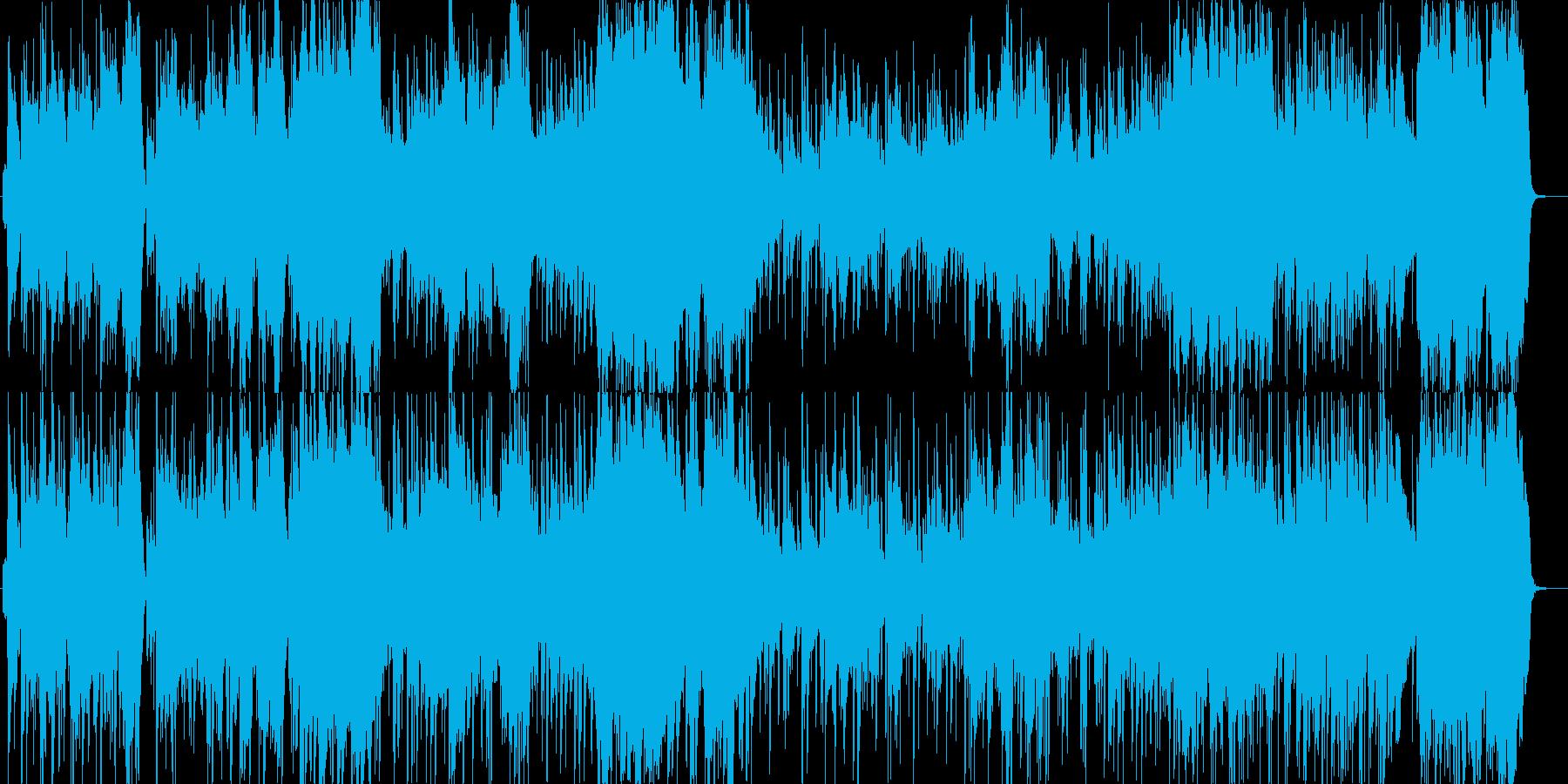 重厚なオーケストラでラテン風のリズムの再生済みの波形