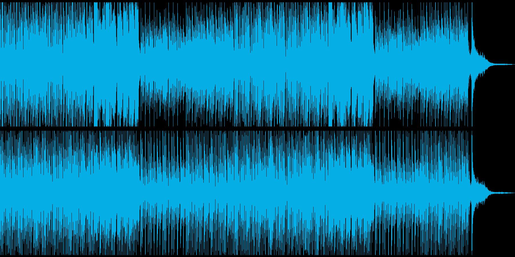 かわいいCMに おしゃれでコミカルな曲の再生済みの波形