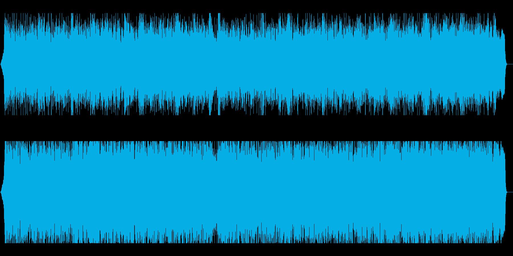メタル系アップテンポBGMの再生済みの波形