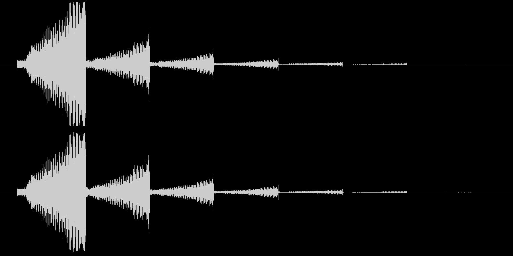 エレキギター音(失敗・回想)の未再生の波形