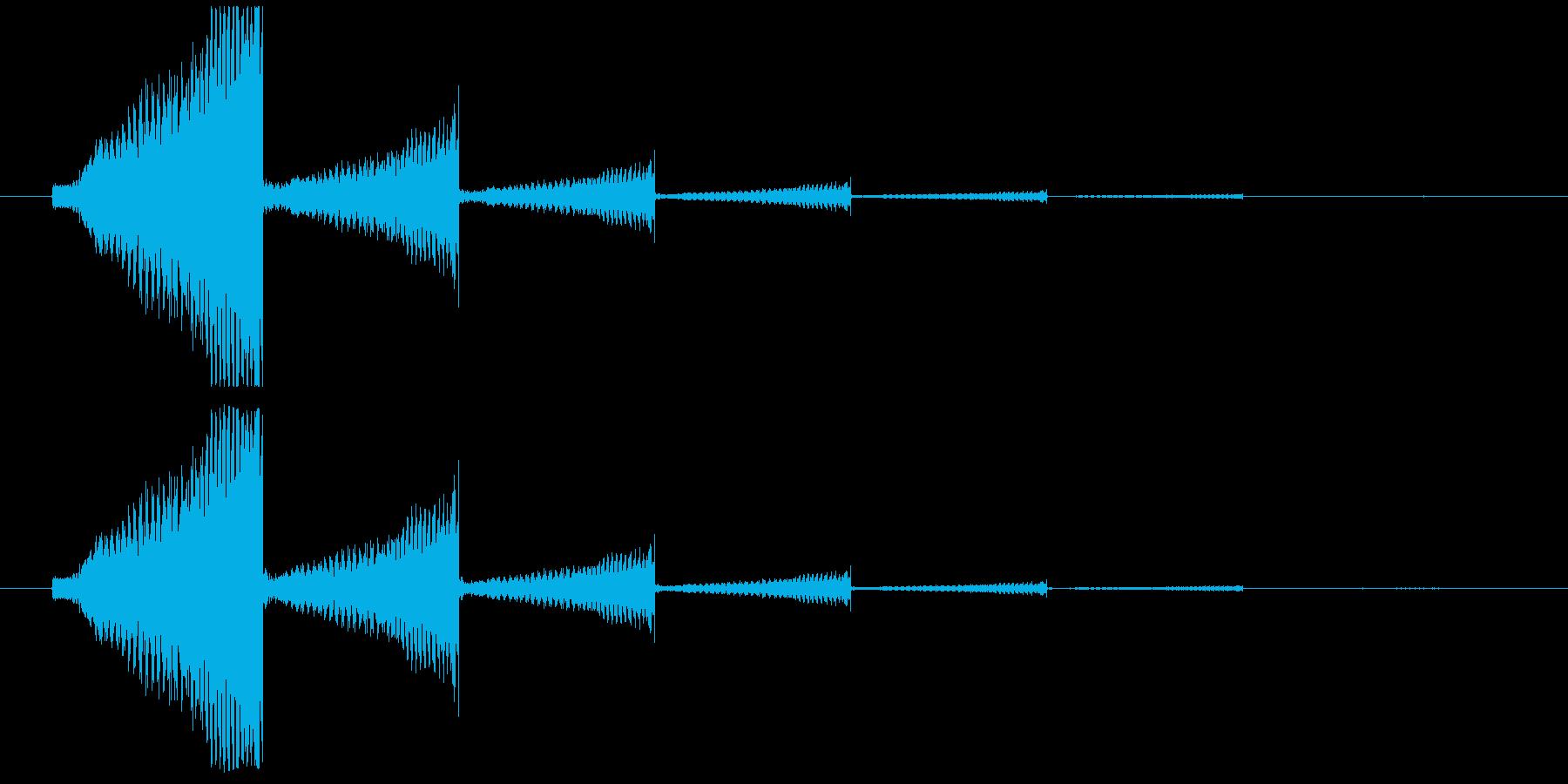 エレキギター音(失敗・回想)の再生済みの波形