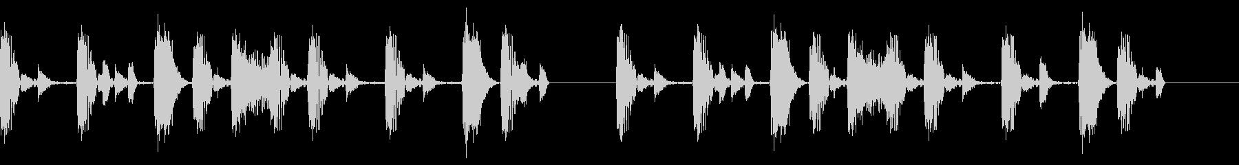 シンキングタイムなビート音の未再生の波形