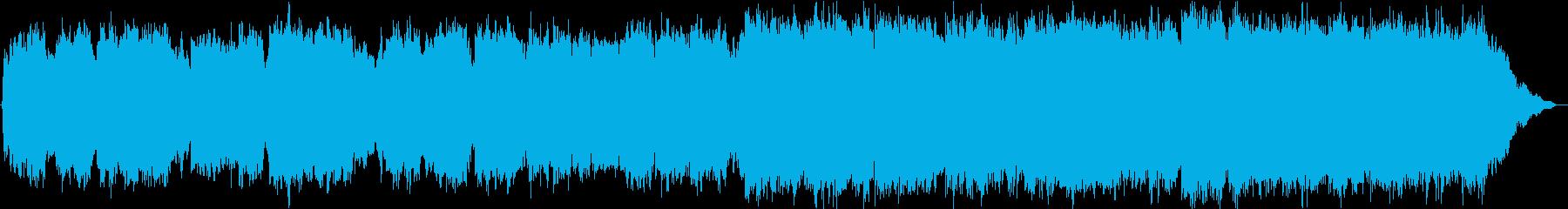 想い出を振り返るような笛のメロディーの再生済みの波形