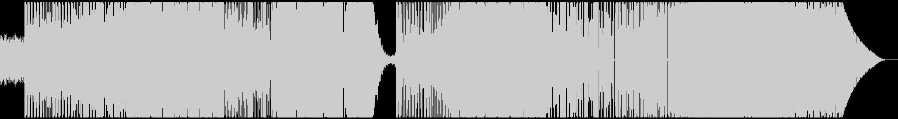 重いビート 重厚エモーショナルエレクトロの未再生の波形