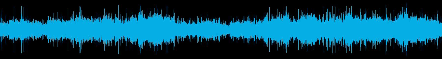 穏やかな波の浜辺(環境音)の再生済みの波形