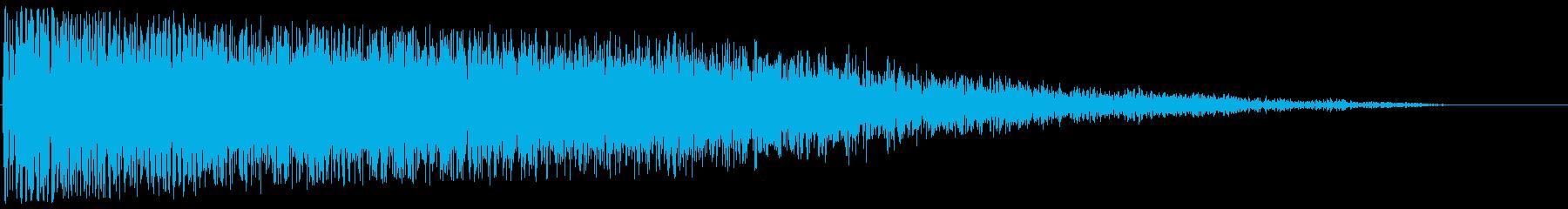 レーザービーム発射(重厚感のある爽快音)の再生済みの波形