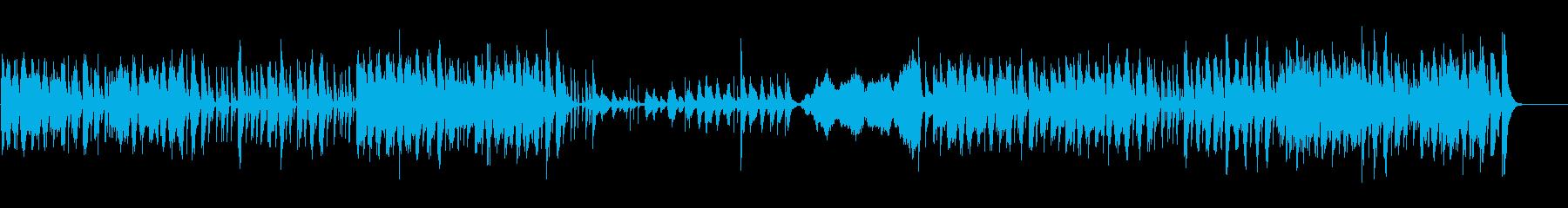 ポップなリズムのコメディータッチ劇伴の再生済みの波形