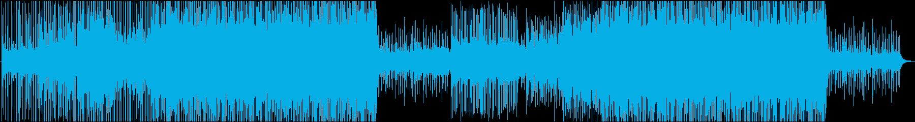 爽やかで疾走感のある夏のトロピカル楽曲の再生済みの波形