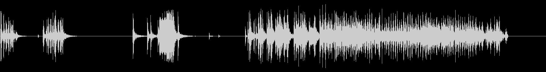 【生音】長めにテープを剥がす音の未再生の波形