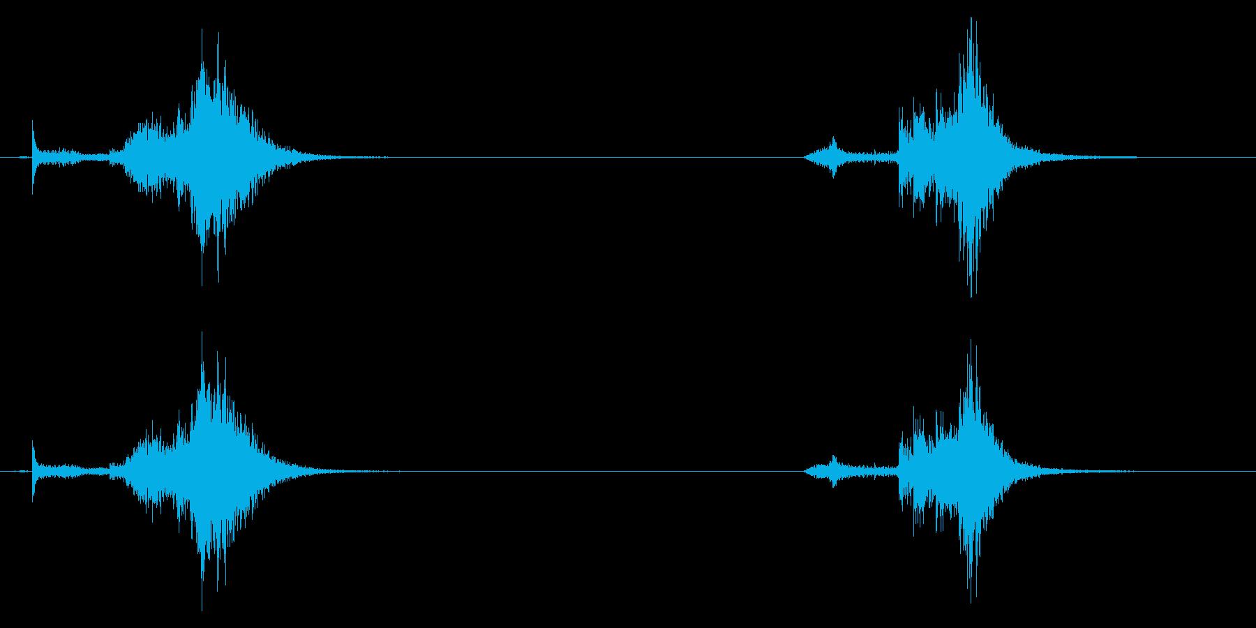 鍋、鍋、ロールx2の再生済みの波形
