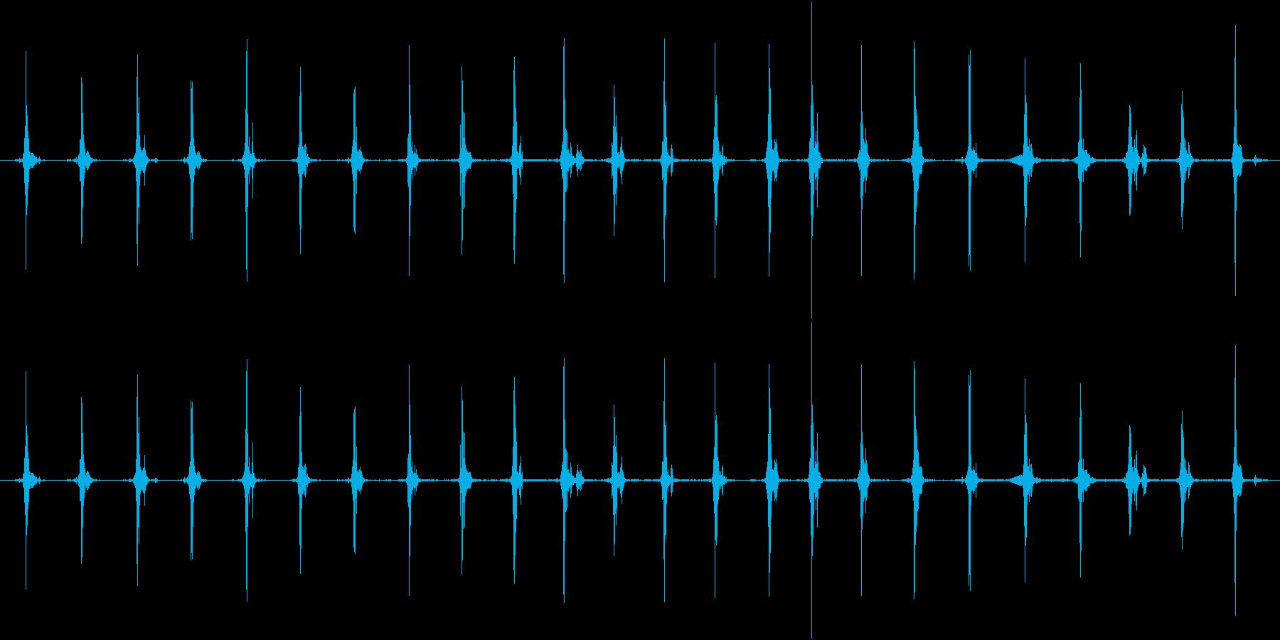 鳥 翼フラップ03の再生済みの波形