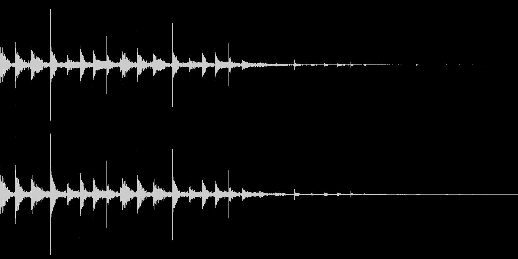 ディレイがかかったフレクサトーンの未再生の波形