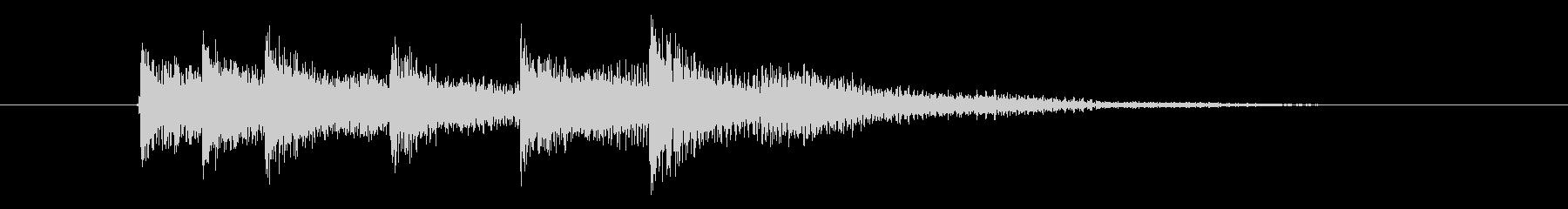 次への発展を促す音(展開音)の未再生の波形