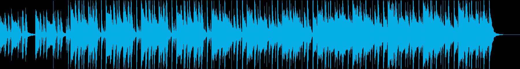 カッティング、都会的なファンクBGMの再生済みの波形