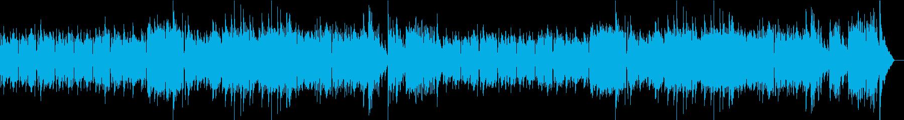 アコーディオンのシャンソン風明るいワルツの再生済みの波形